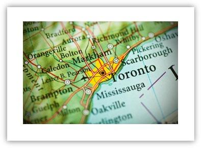Toronto Service Area Map