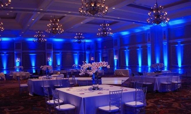 Up lighting or Wall Lighting surrounding the hall